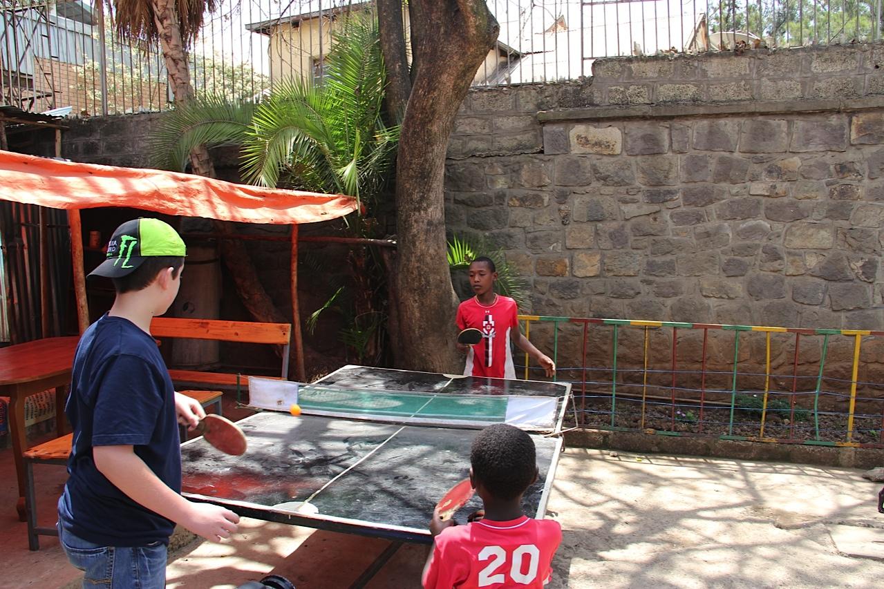 Forsaken Children Onesimus House Ping Pong with Will
