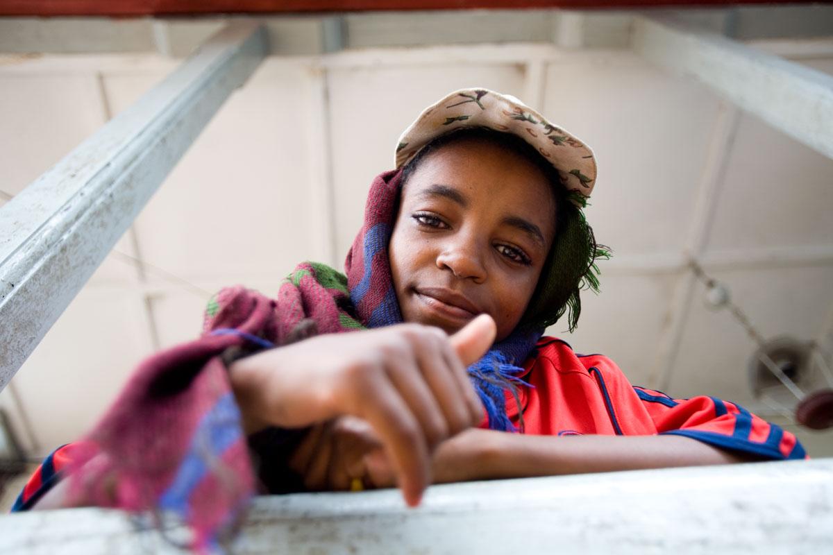 Kids at Ethiopia Forsaken Children Drop-In Center